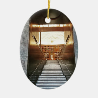 Library staira ceramic oval ornament