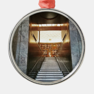 Library staira Silver-Colored round ornament