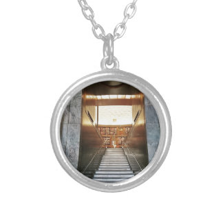 Library staira silver plated necklace