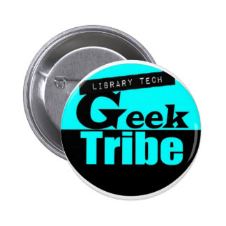 Library Tech Geek Tribe 2 Inch Round Button
