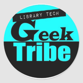 Library Tech Geek Tribe Classic Round Sticker
