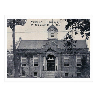 Library, Vineland, New Jersey Vintage Postcard
