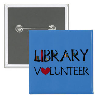 Library Volunteer - Change Color 2 Inch Square Button