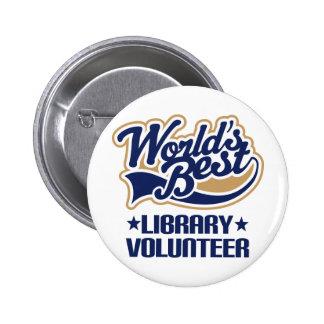Library Volunteer Gift 2 Inch Round Button