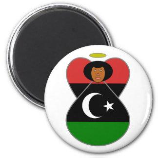 Libya Angel Flag Magnet