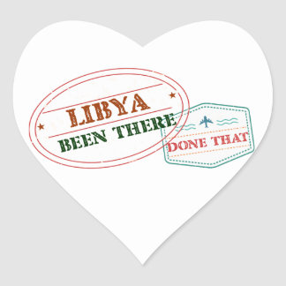 Libya Been There Done That Heart Sticker