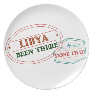Libya Been There Done That Plate