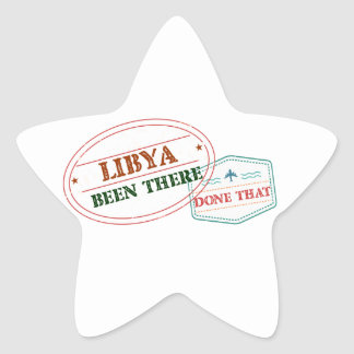 Libya Been There Done That Star Sticker