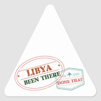 Libya Been There Done That Triangle Sticker
