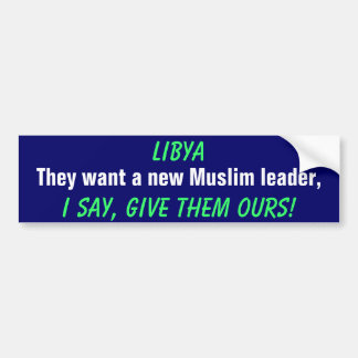 Libya Bumper Sticker