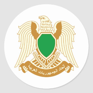 Libya coat of arms classic round sticker