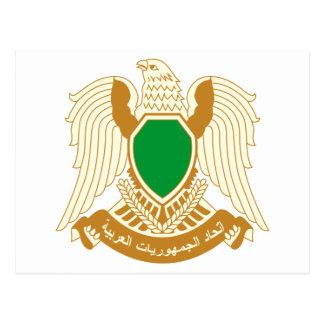 Libya coat of arms postcard