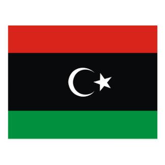 Libya country long flag nation symbol republic postcard