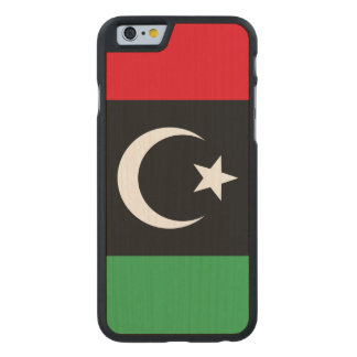 Libya Flag Carved Maple iPhone 6 Case