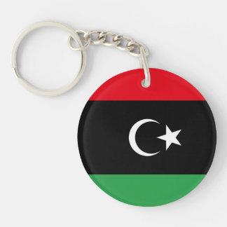 Libya Flag Double-Sided Round Acrylic Keychain