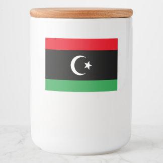Libya Flag Food Label