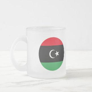 Libya Flag Frosted Glass Coffee Mug