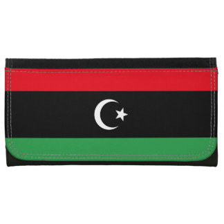 Libya Flag Leather Wallet For Women