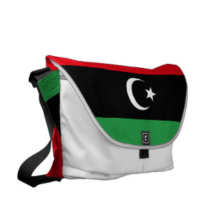 Libya Flag Messenger Bag
