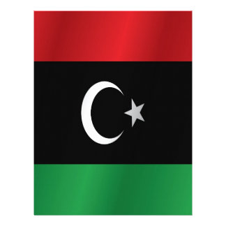 Libya flag personalized letterhead