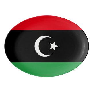 Libya Flag Porcelain Serving Platter