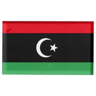 Libya Flag Table Number Holder