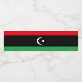 Libya Flag Water Bottle Label