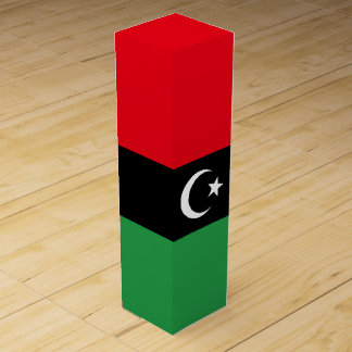 Libya Flag Wine Gift Box