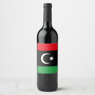 Libya Flag Wine Label