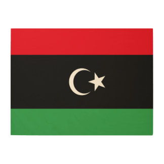 Libya Flag Wood Wall Art