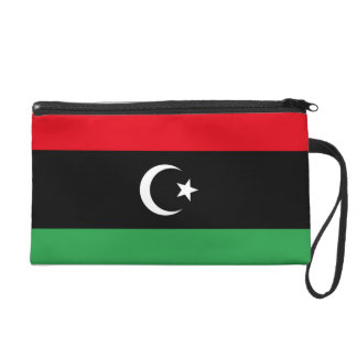 Libya Flag Wristlet Clutches