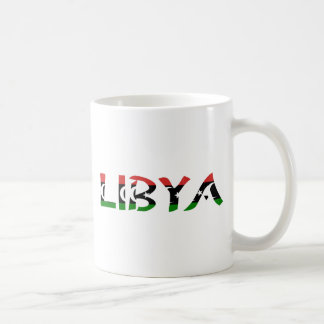 Libya FlagWord Coffee Mug