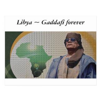 Libya ~ Gaddafi forever Postcard