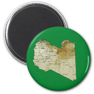 Libya Map Magnet