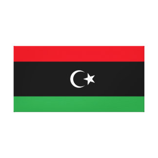 Libya National World Flag Canvas Print