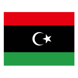 Libya National World Flag Postcard