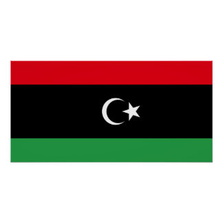 Libya National World Flag Poster