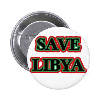 Libya - Save Libya Pinback Button