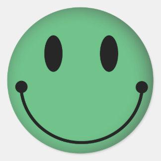 Libya Smiley Classic Round Sticker