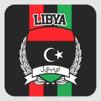 Libya Square Sticker