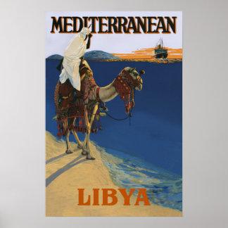 Libya travel poster