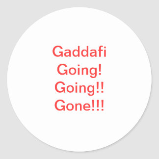 Libyan Anti-Gaddafi Sticker