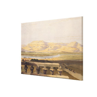 Libyan Chain of Mountains from the Temple of Luxor Canvas Print