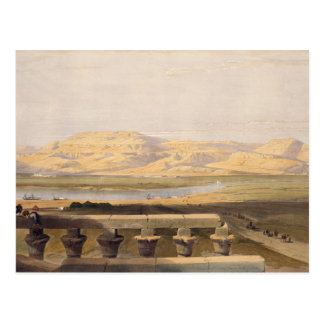 Libyan Chain of Mountains from the Temple of Luxor Postcard