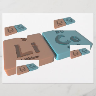 Lithium periodic table gifts on zazzle ca lice as li lithium and ce cerium urtaz Gallery