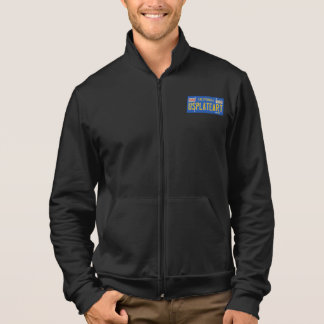 License Plate Art - Men's Fleece Jacket