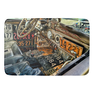 License Plate Car Shower/Bath Mat