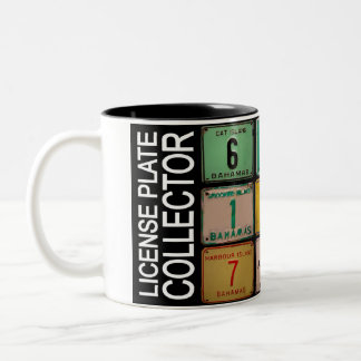 LICENSE PLATE COLLECTOR MUG 2