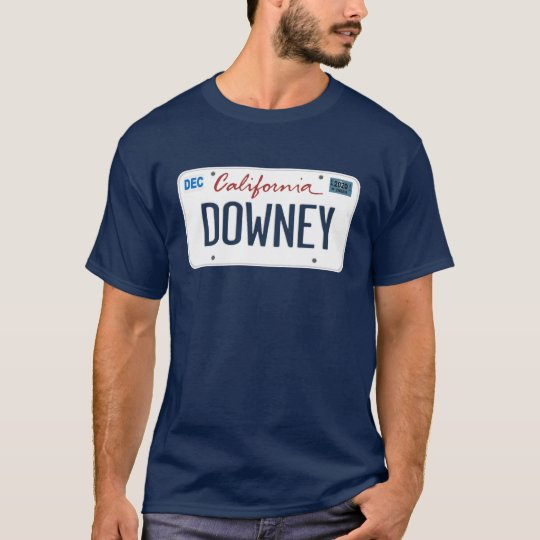 License Plate Downey California T Shirt
