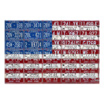 License Plate Flag of the United States USA 2012 Print